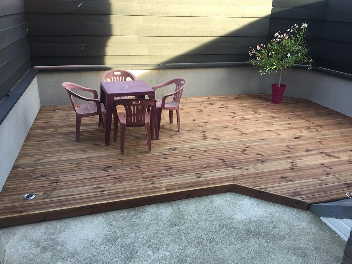 Aménagement et réalisation de terrasse en bois