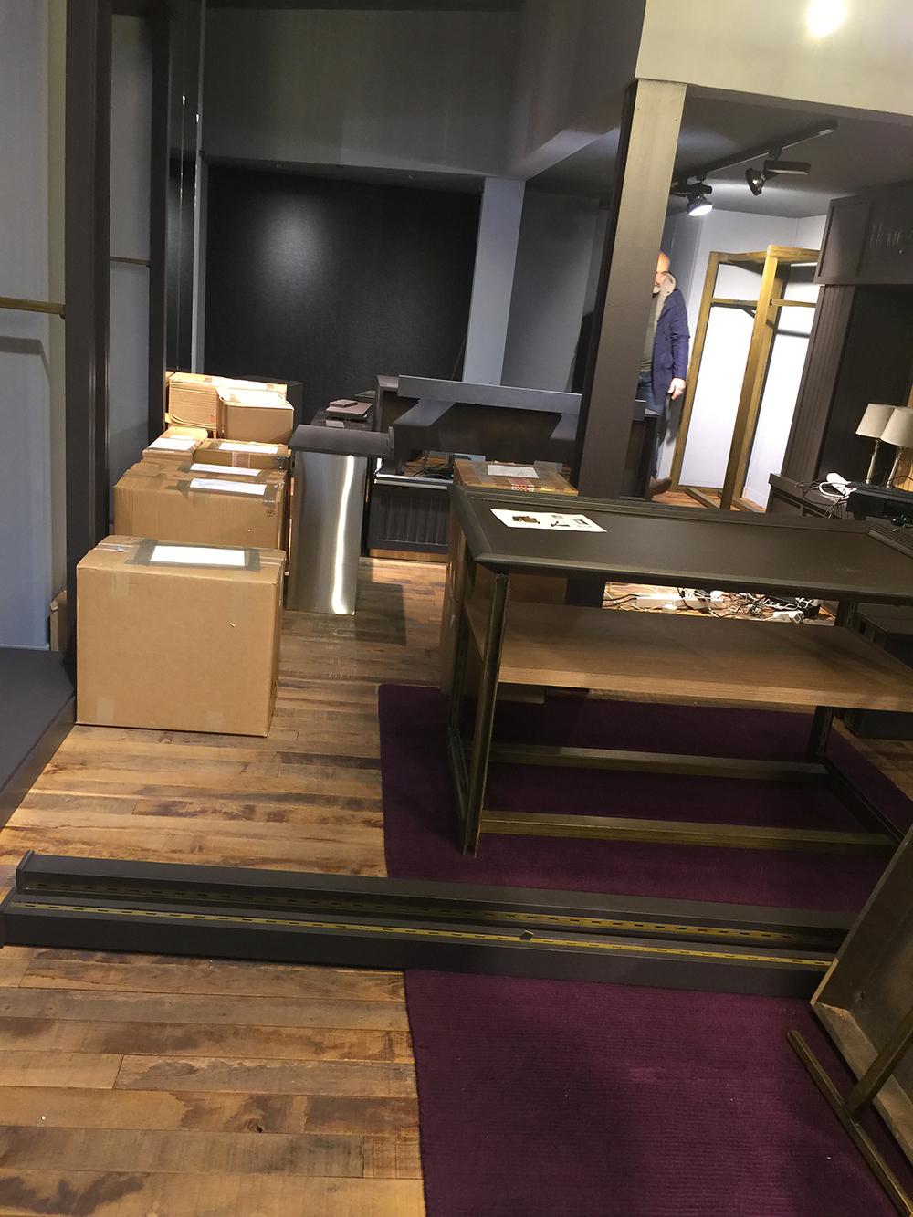 Création et aménagement magasin Timberland à Rouen